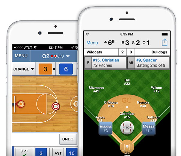 Basketball and Baseball iPhone app